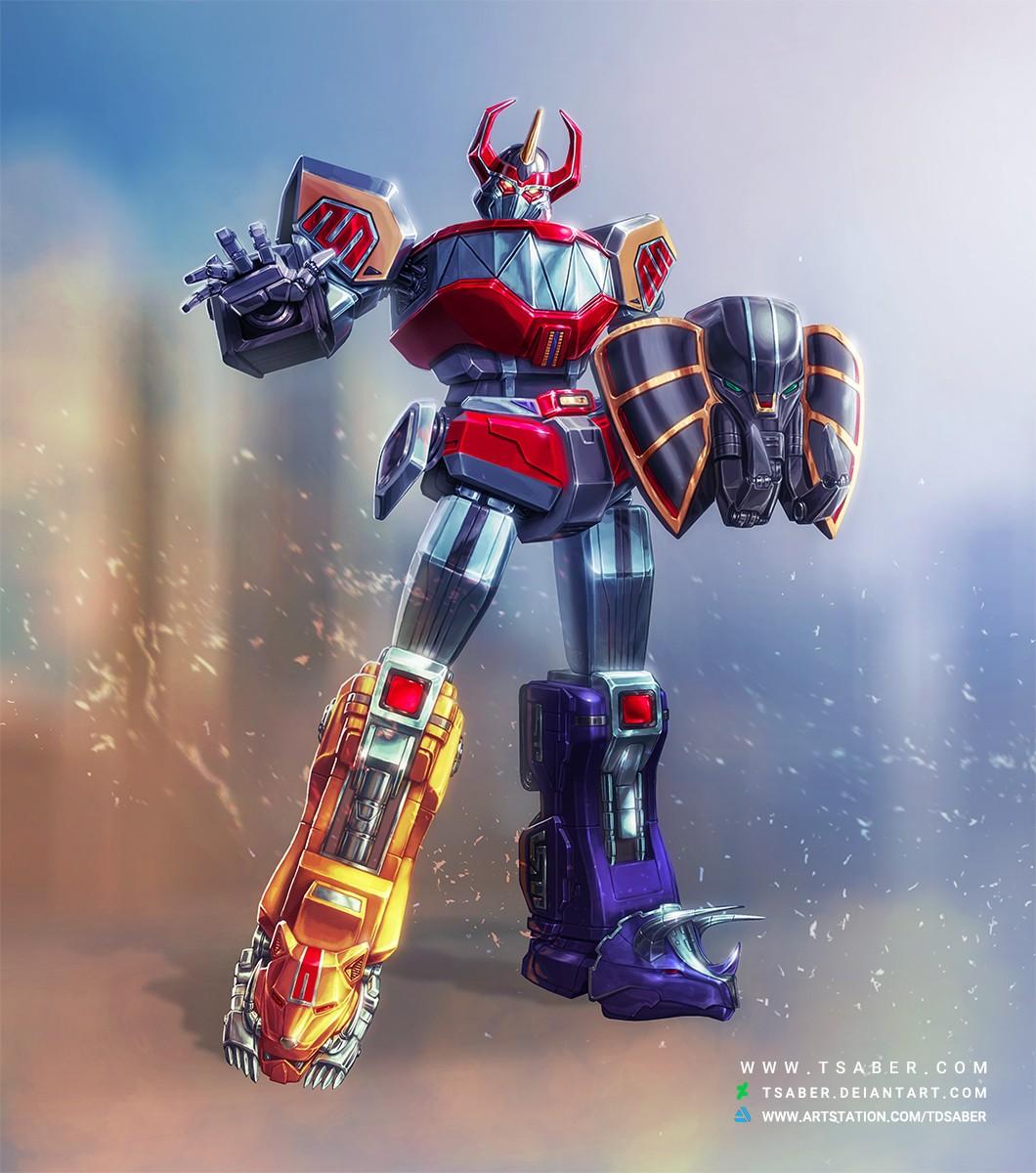 Megazord Mech - Mighty Morphing Power Rangers -Tsaber
