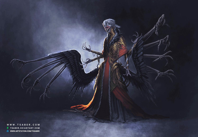 Ravenous Horror - Undead Vampire Illustration - Tsaber