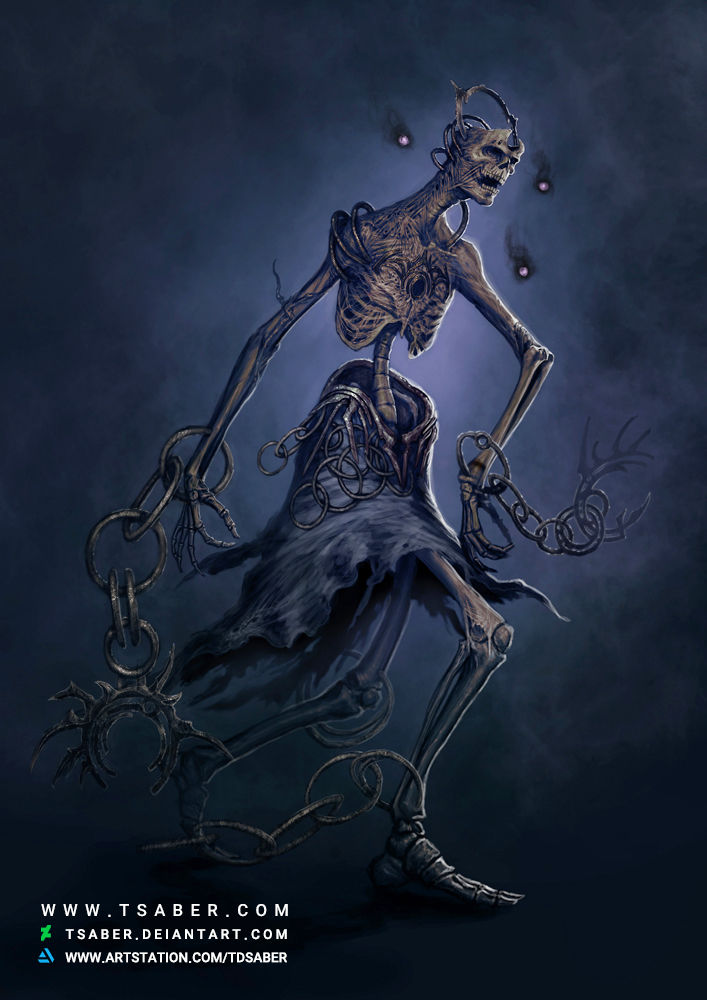 Ravenous Pawn - Undead Fantasy Artwork - Tsaber