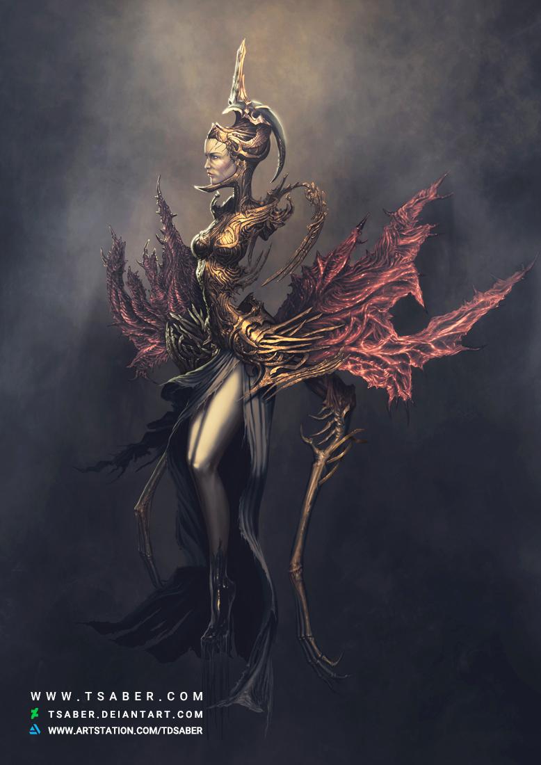 Baneful Bloom - Fantasy Female Undead Character - Tsaber