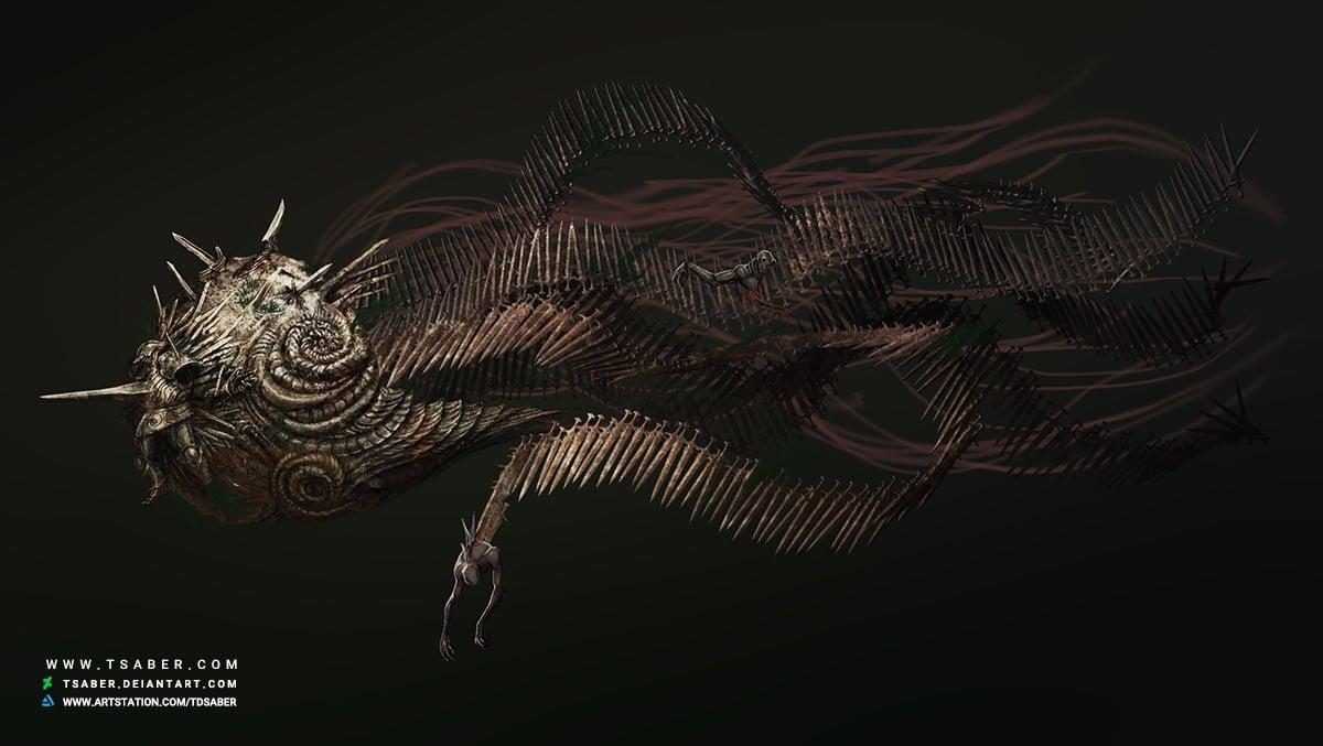 Beneath The Waves - Knight Of Swords - Creature Design - Tsaber