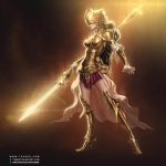 Dawn Elf Knight - Fantasy Character Artwork - Tsaber