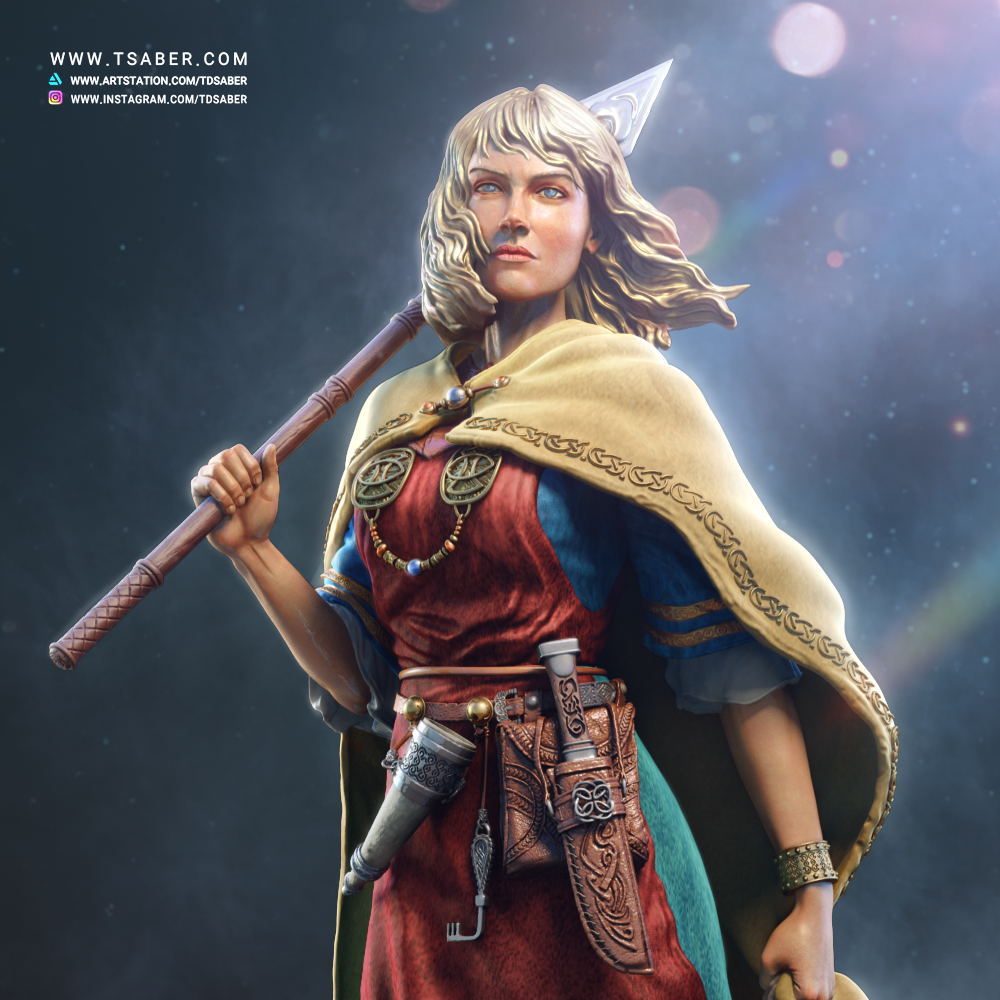 Aaricia Thorgal Collectible statue - Tsaber