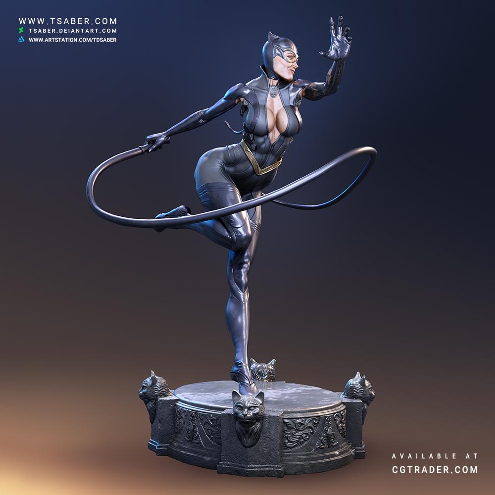 Catwoman Statue- DC Comics Collcetibles - Tsaber