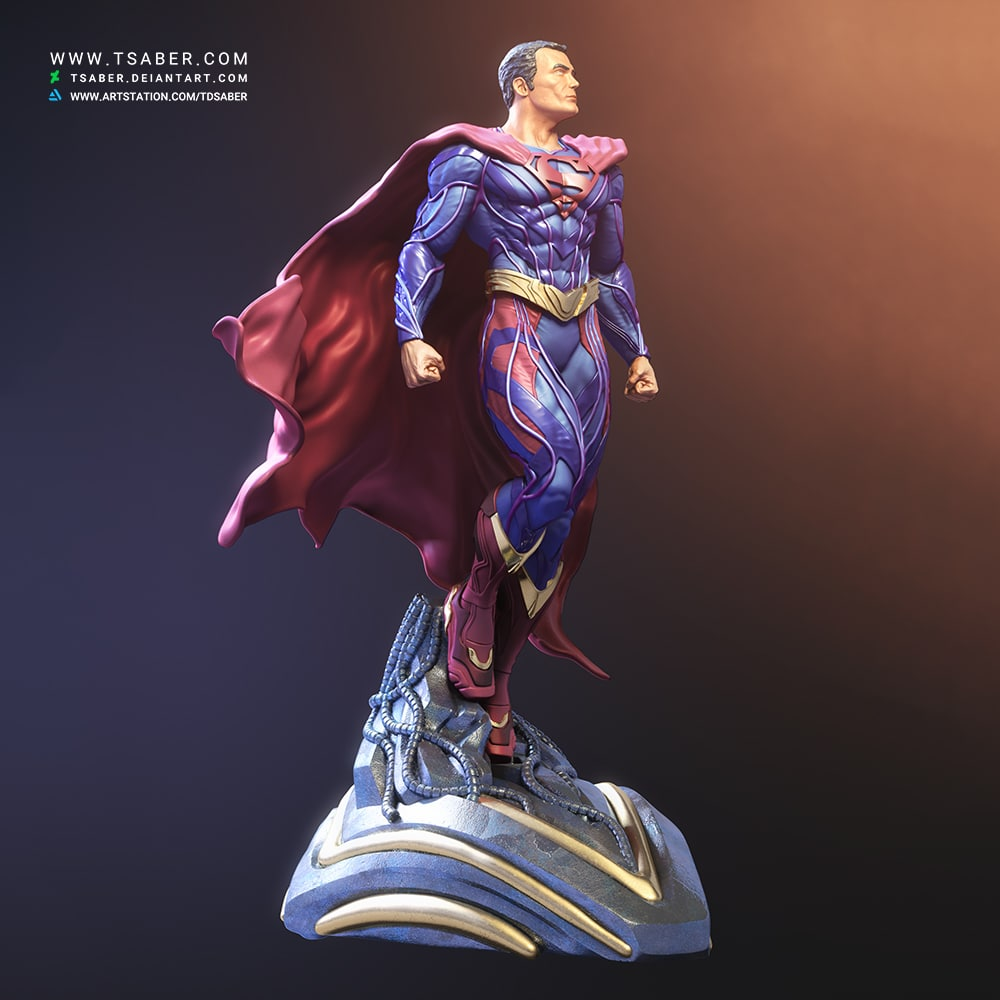 Superman 3d model - DC Comics Statue and bust - Tsaber