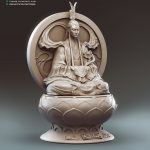 Rabbit God Zbrush Statue