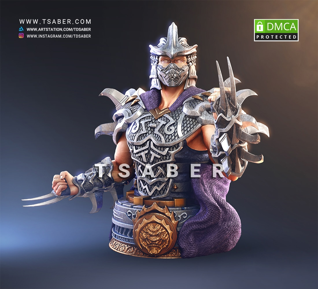 Shredder Bust - Teenage mutant ninja turtles Collectibles - Tsaber