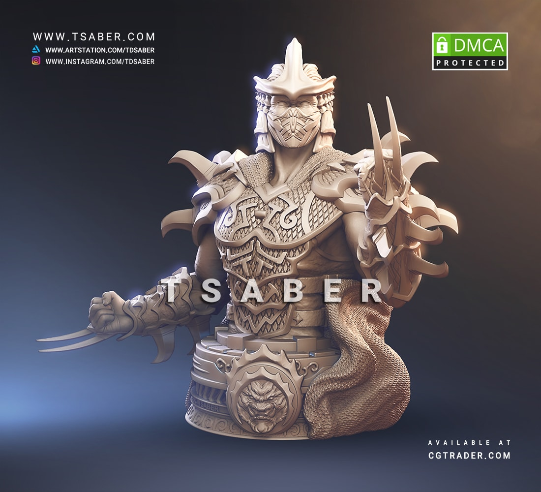 Shredder Sculpture - TMNT Collectibles - Tsaber