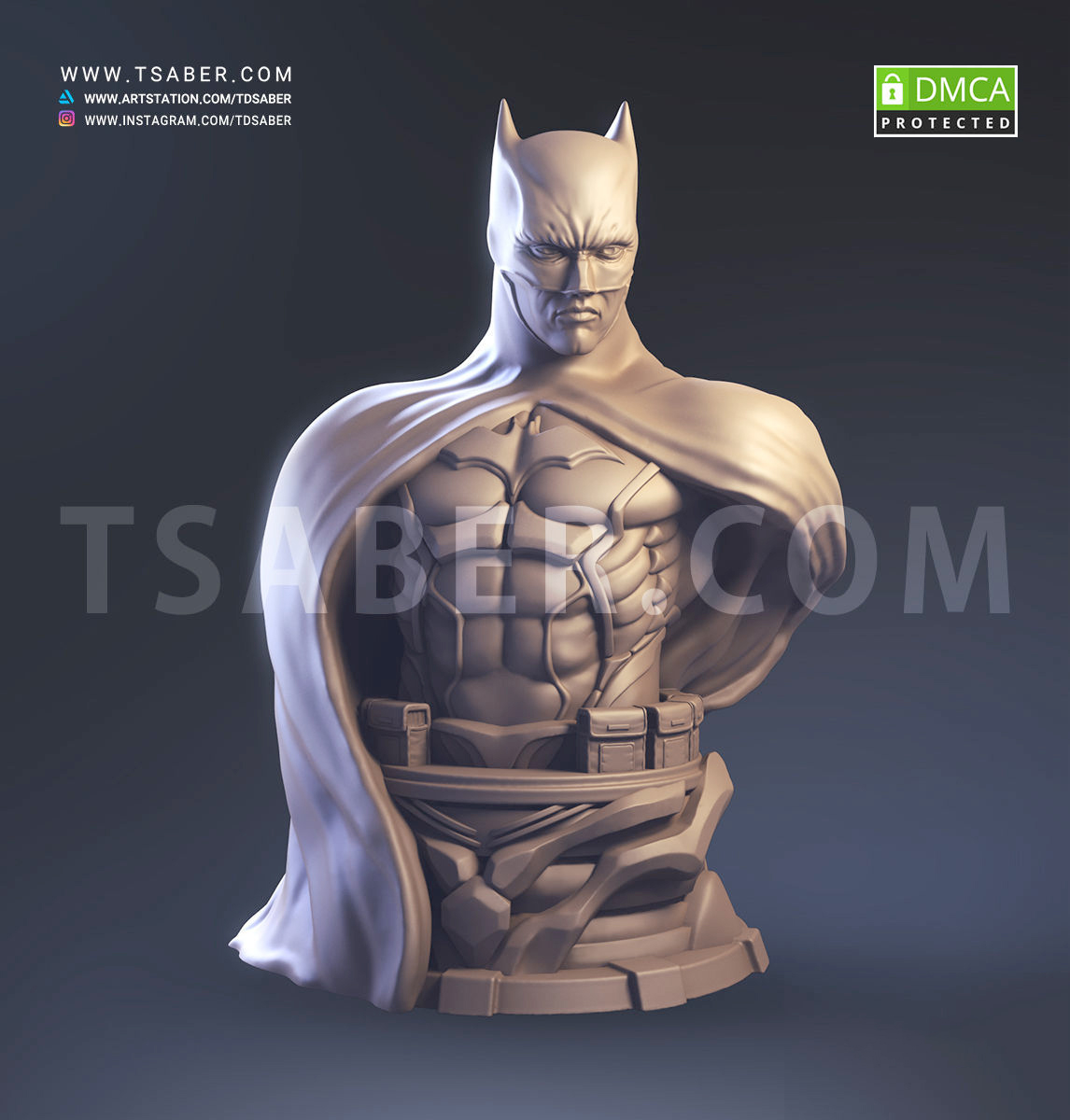 Batman Bust Zbrush - Tsaber