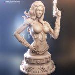 Black Widow Bust - Marvel sculpture - Tsaber