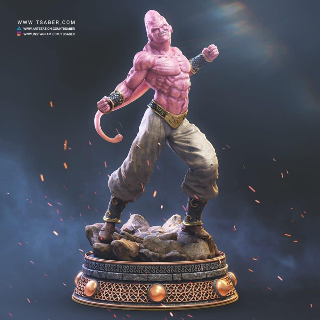 Super Buu Zbrush statue Sculpture - Dragon Ball Z Fan art - Tsaber