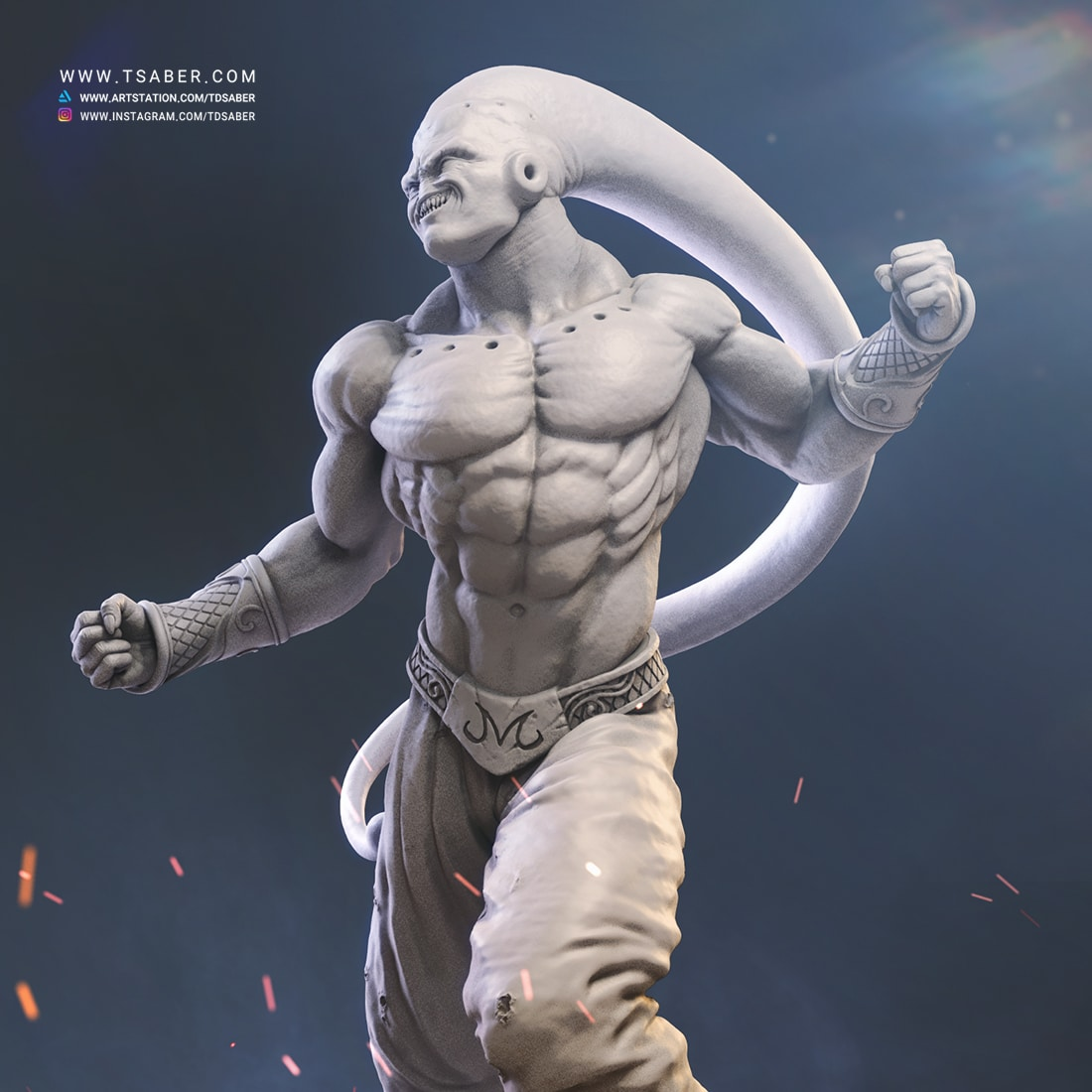 Majin Buu Zbrush statue Sculpture - Dragon Ball Z Fan art - Tsaber