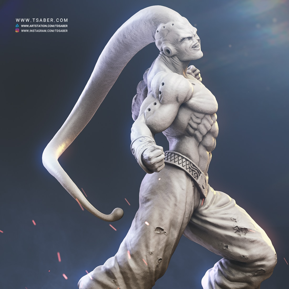 Majin Buu Zbrush statue Sculpture - Dragon Ball Z collectibles- Tsaber