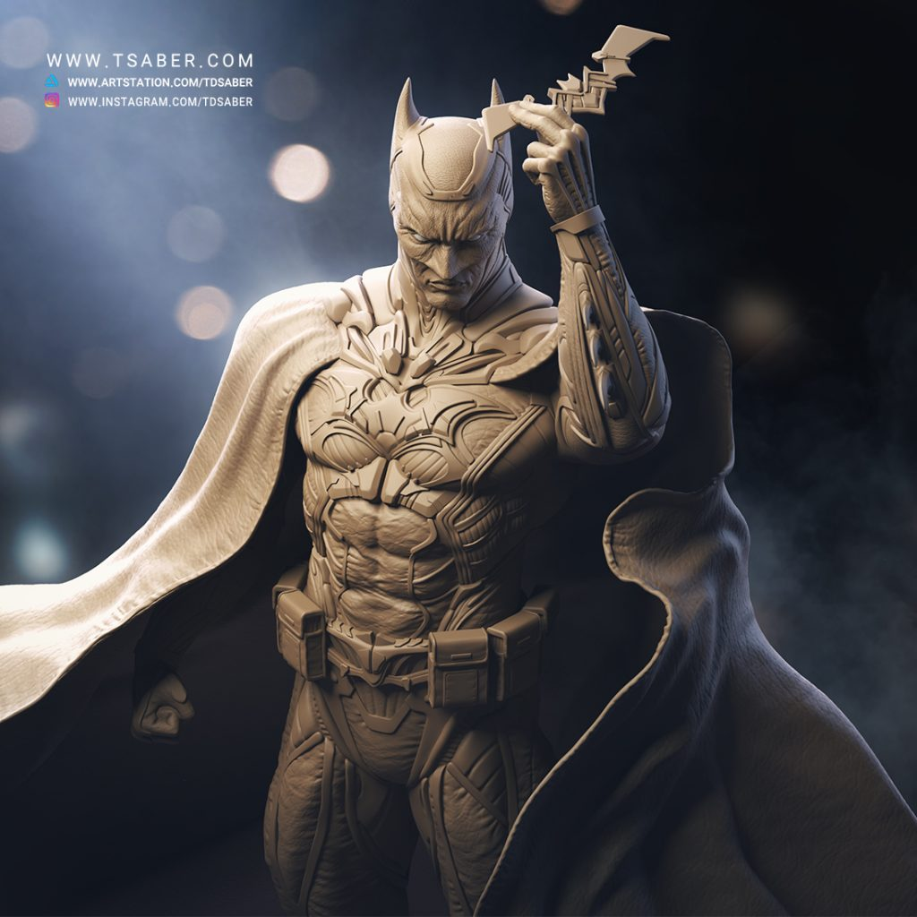 Batman Statue Zbrush - DC Comics Collectible - Tsaber