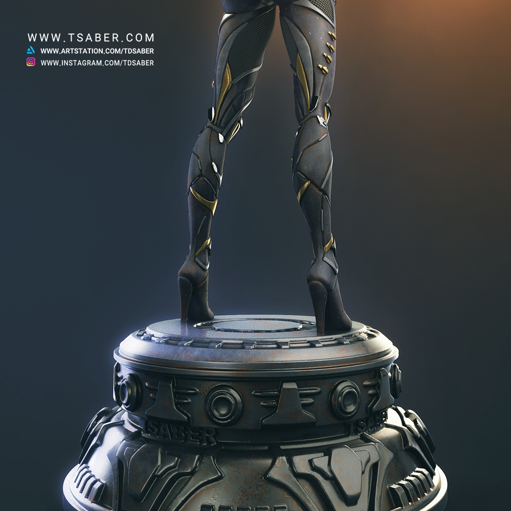 Black WidowMaker - Zbrush Character Statue Sculpture - Tsaber