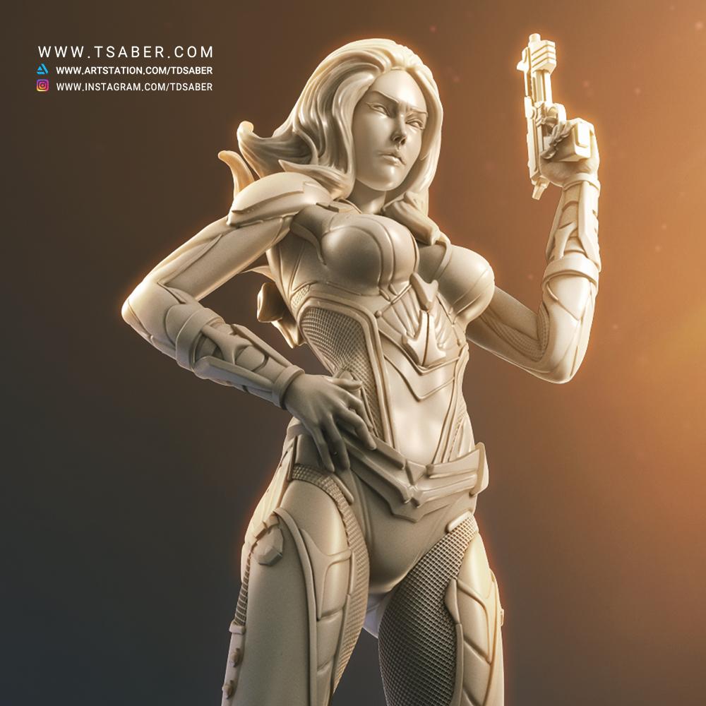 The Black WidowMaker - Scifi Zbrush Character Artwork - Tsaber