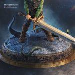 Thorgal Statue collectible - Fantasy comicbook character - Tsaber