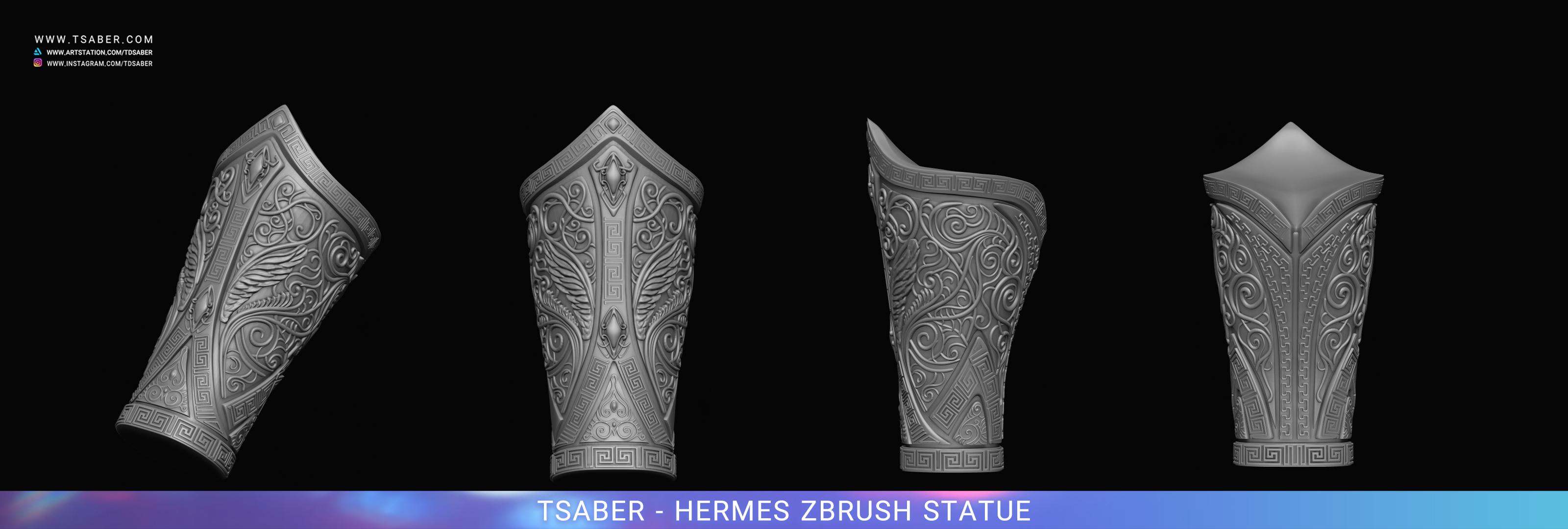 Making of Hermes Statue Zbrush - Blood of Zeus - Tsaber