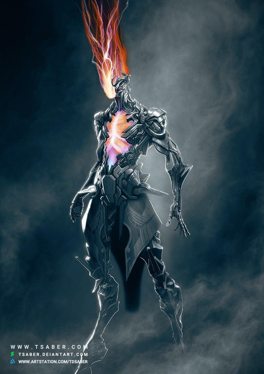 Ascension - Scifi Robot Character Design Artwork - Tsaber