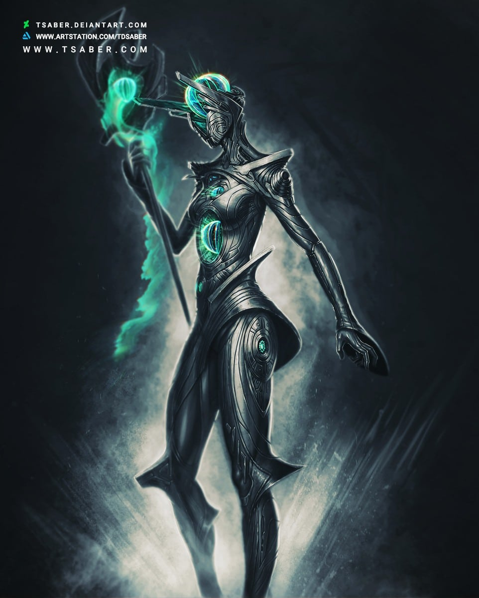 Protector - Scifi Robot Character Design Artwork - Tsaber