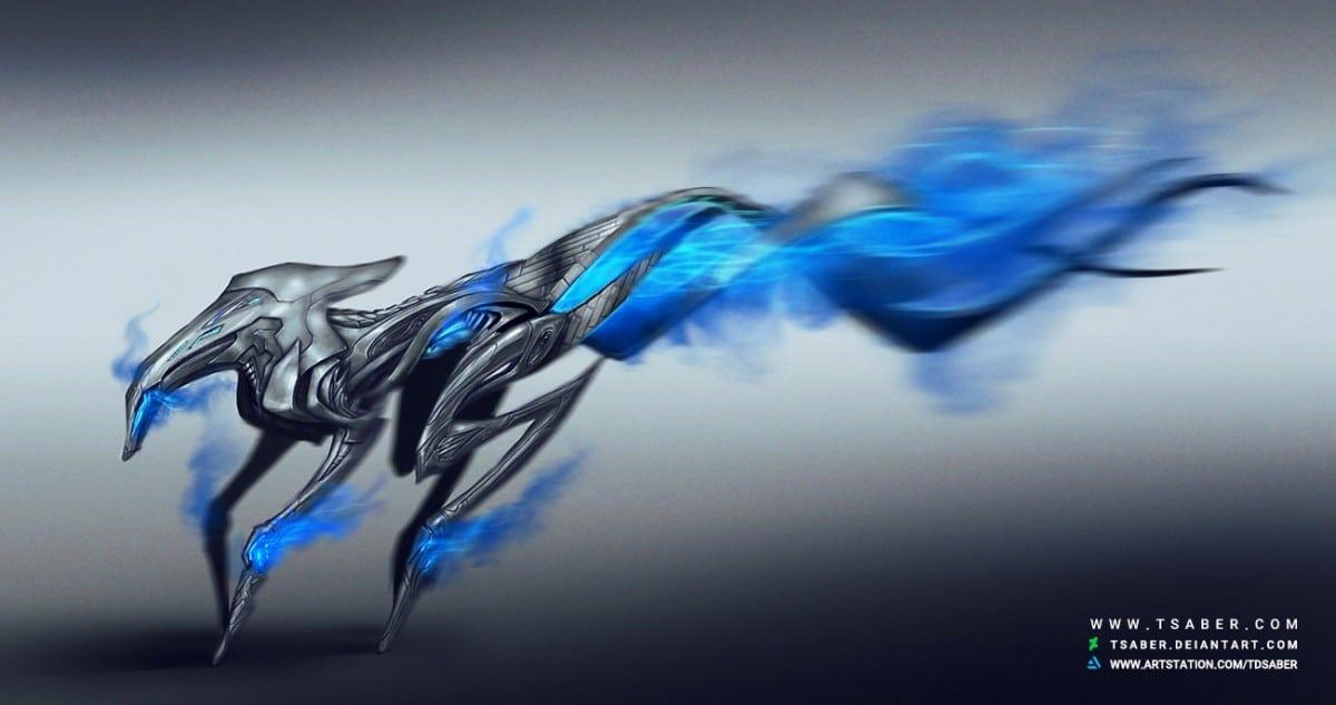 Robotic Hound Design - Sci-fi Robot Design - Tsaber