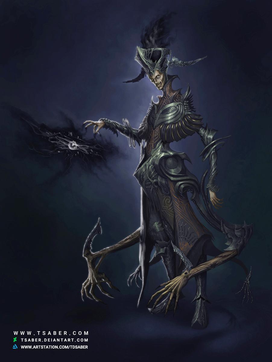 Torch of Void - Dark Fantasy Undead character - Tsaber