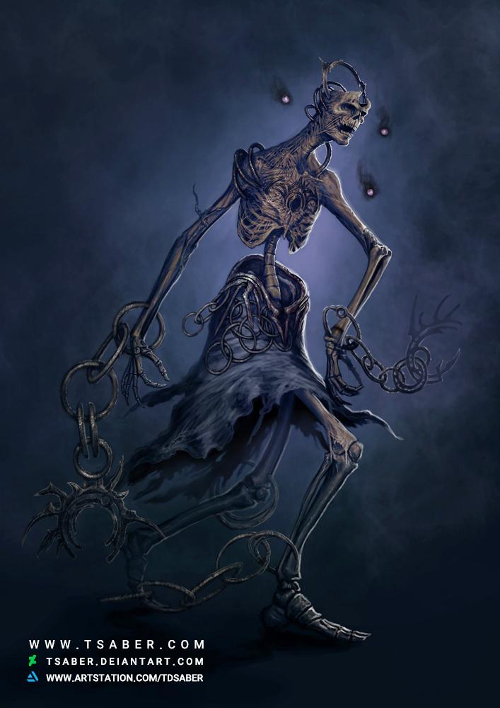Ravenous Pawn - Undead Fantasy Artwork - Tsaber