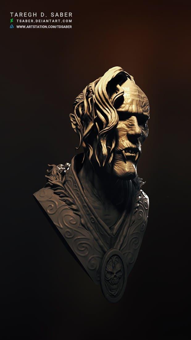 Vampire bust- Zbrush Sculpting - Tsaber