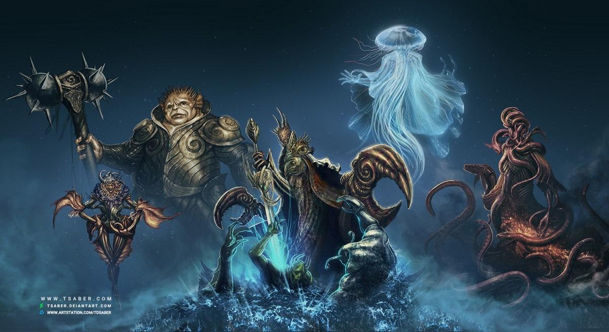 Beneath The Waves - Fantasy Sea Characters Design - Tsaber
