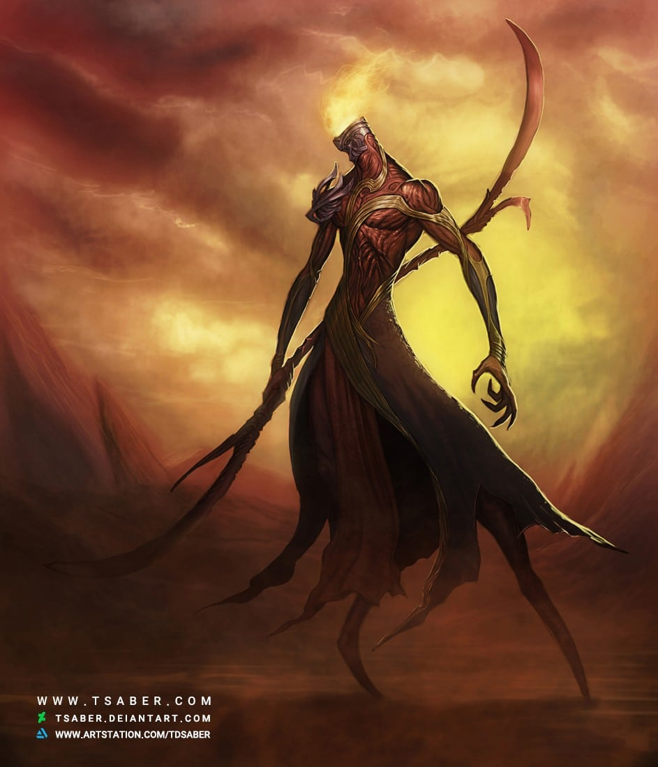 Demon Warrior - Fantasy Character Artwork - Tsaber