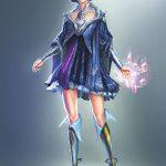 Elementalist girl -Fantasy character artwork - Tsaber