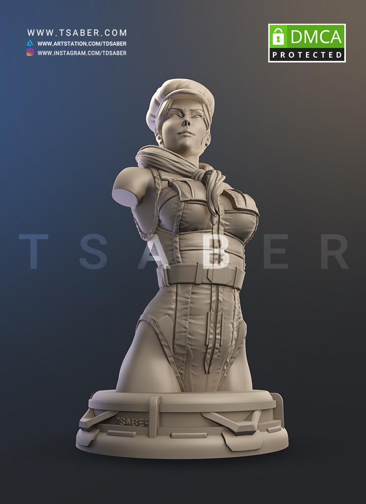Super Soldier Cammy 3d Bust - Tsaber
