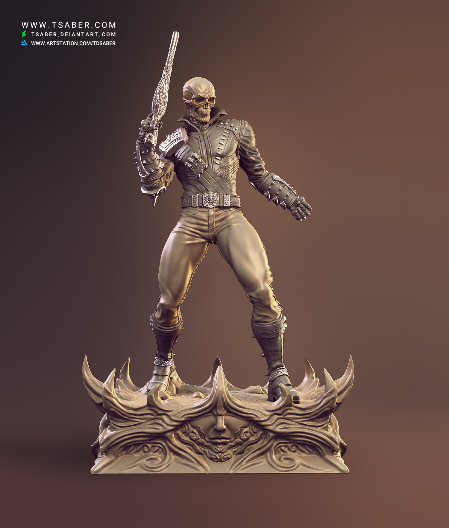 Ghost Rider Statue - Marvel comics Collectibles - Tsaber