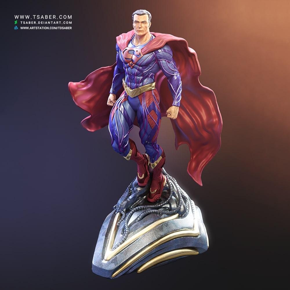 Superman 3d model - DC Comics Statue and bust - Tsaber