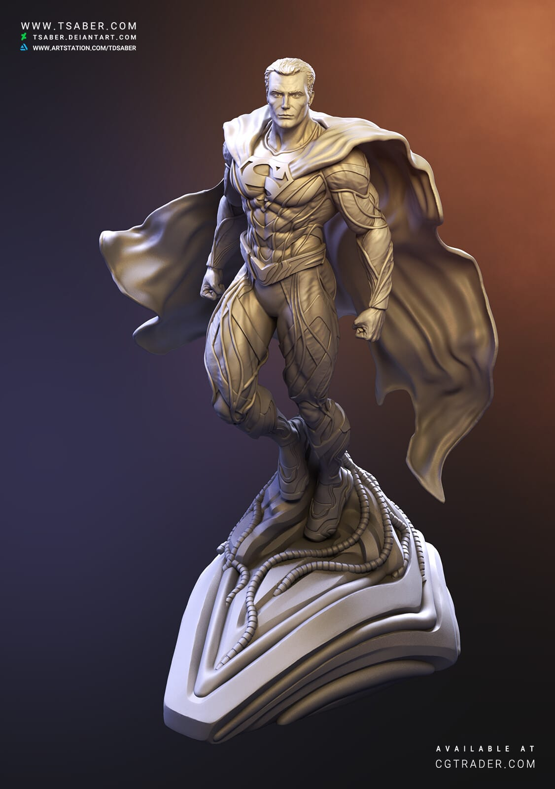 Superman Zbrush sculpture - DC Collectibles - Tsaber