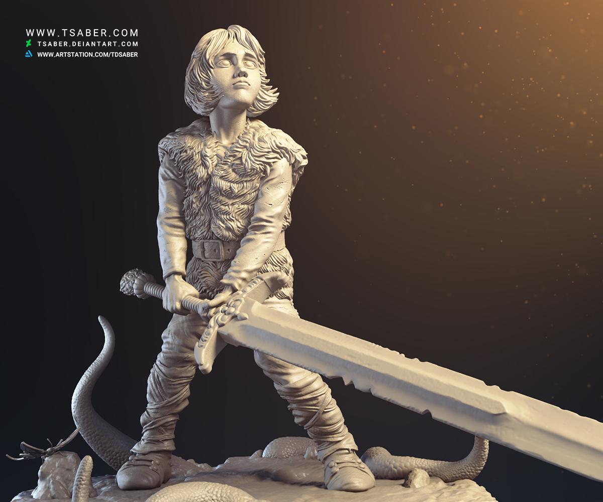 Thorgal Statue - Comic book Statue - Tsaber