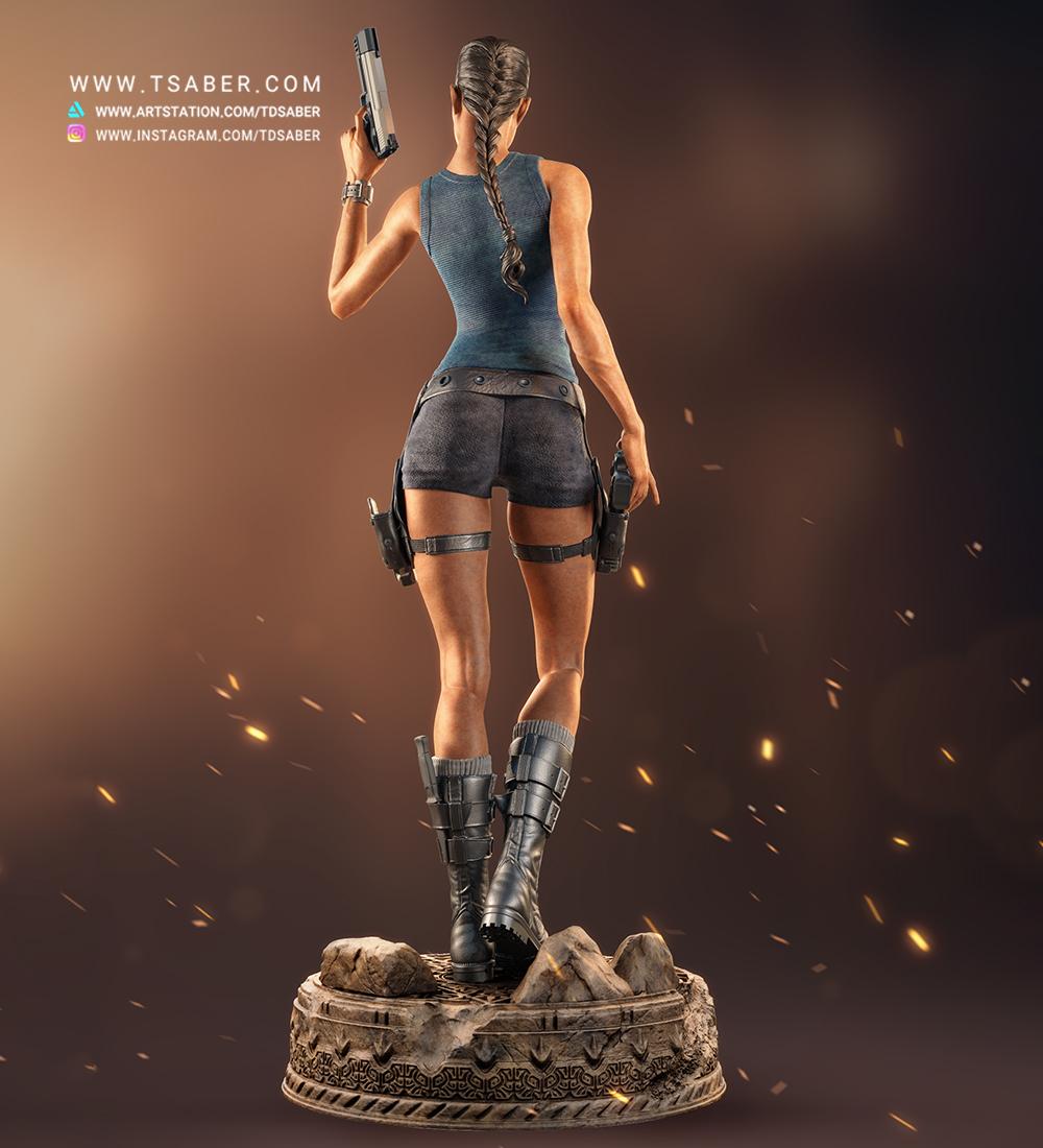Lara Croft Tomb Raider Statue collectibles - Tsaber