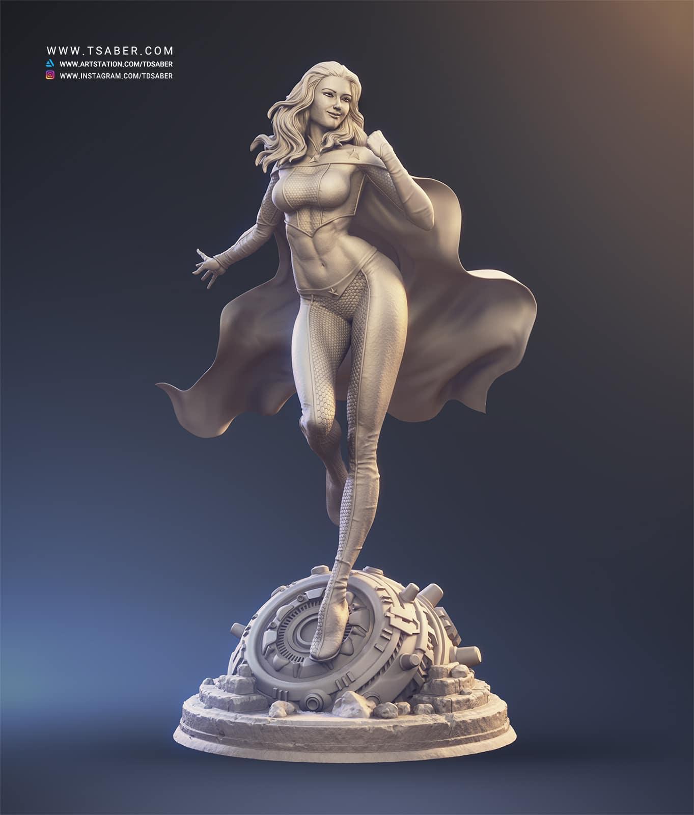 American Star - Zbrush Superhero Statue - Tsaber