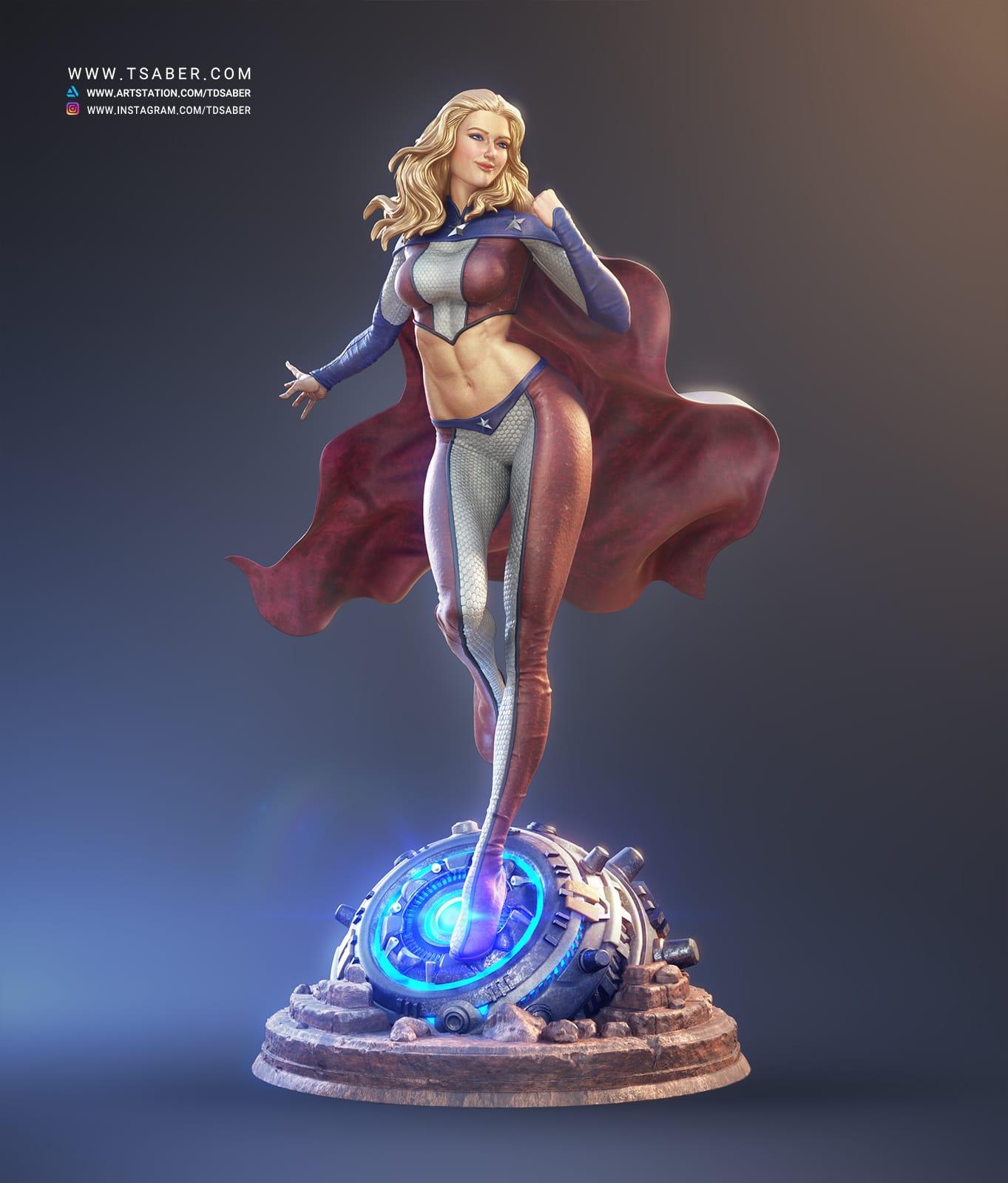 American Star Statue - Superhero character- Tsaber