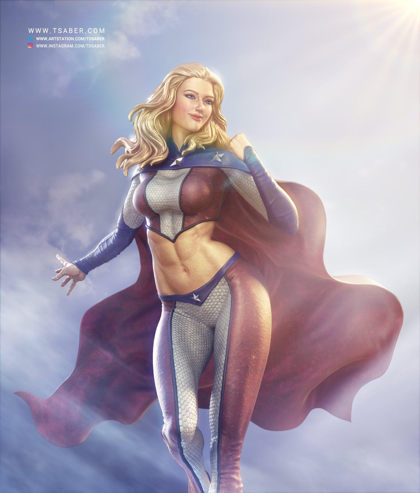 American Star 3d render - Superhero character- Tsaber