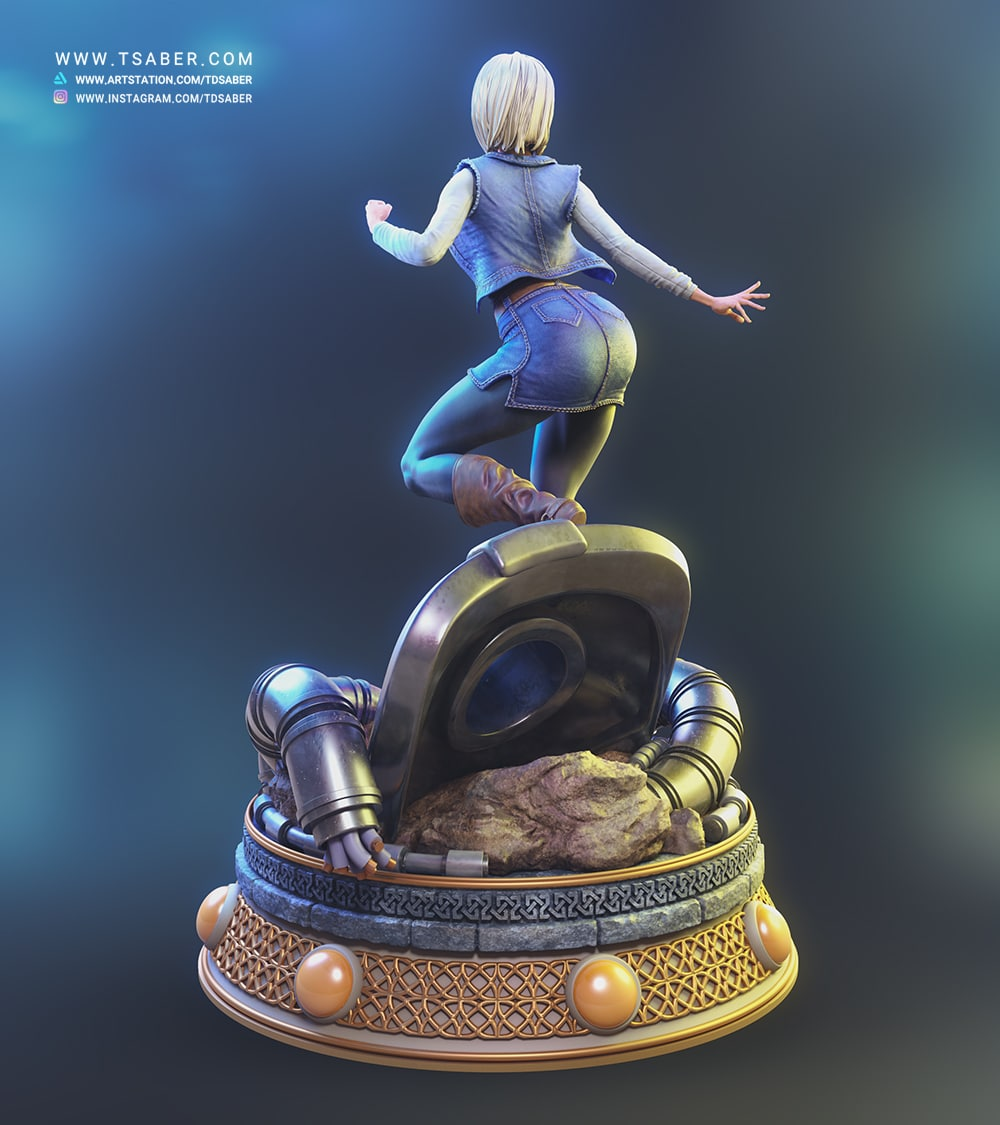 Android 18 statue - Dragon Ball Z collectibles