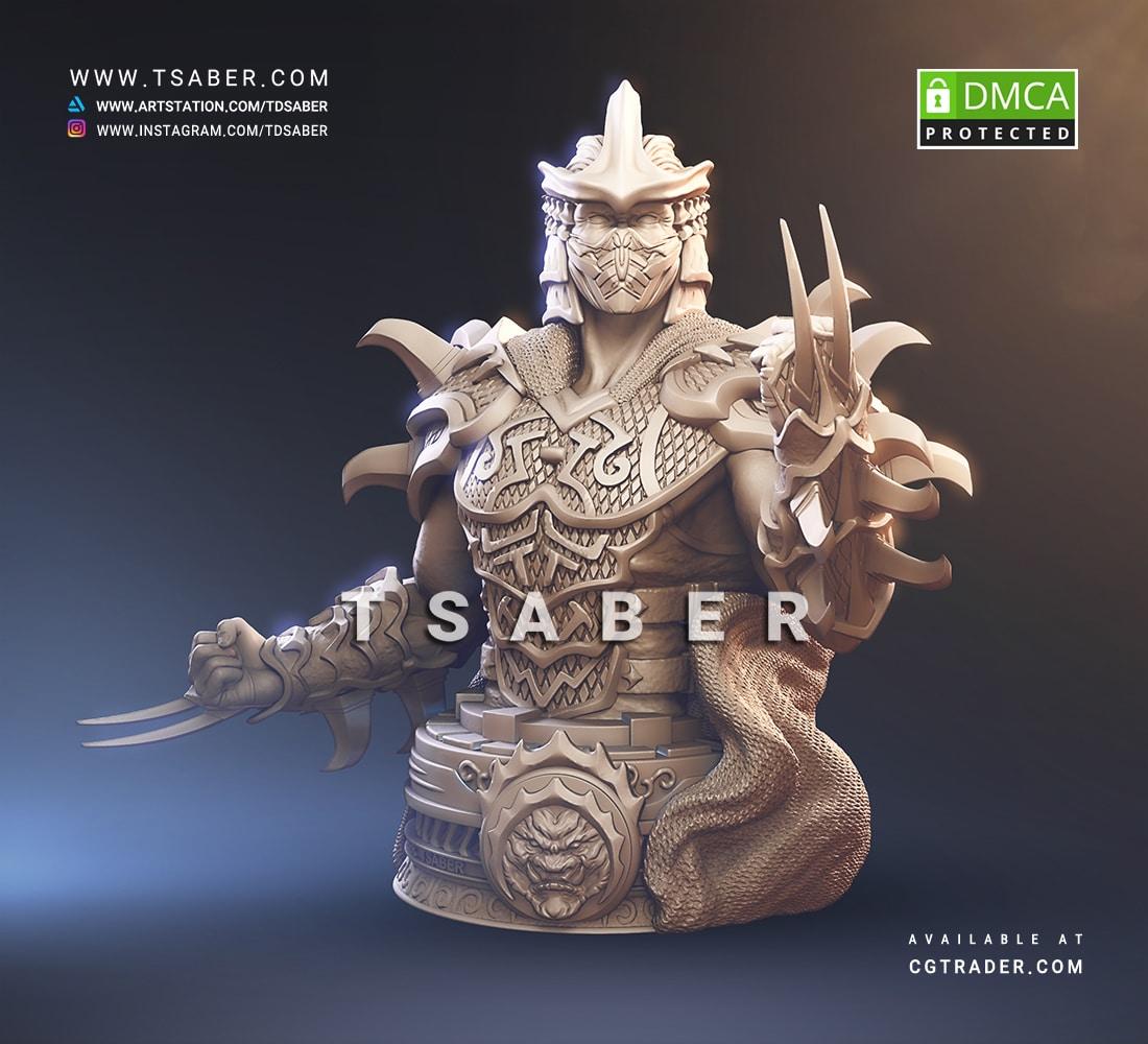 Shredder Sculpture - TMNT Collectibles - Tsaber