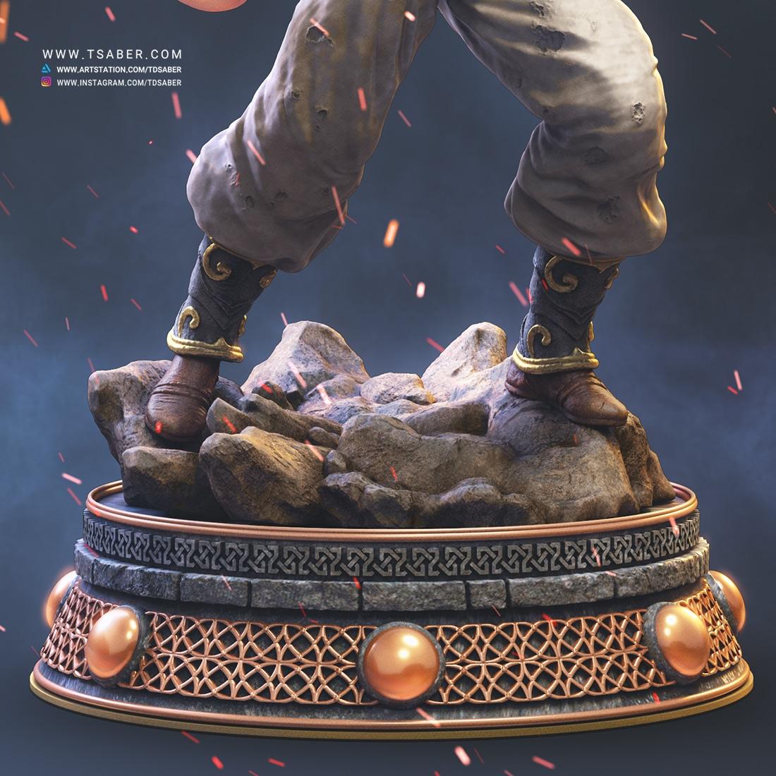 Super Buu Statue - Dragonball Z Collectible - Tsaber