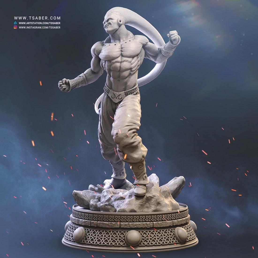 Majin Buu Zbrush statue Sculpture - Dragon Ball Z Fan art - Tsaber