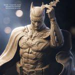 Batman Statue Zbrush - DC Comics Collectible - Tsaber