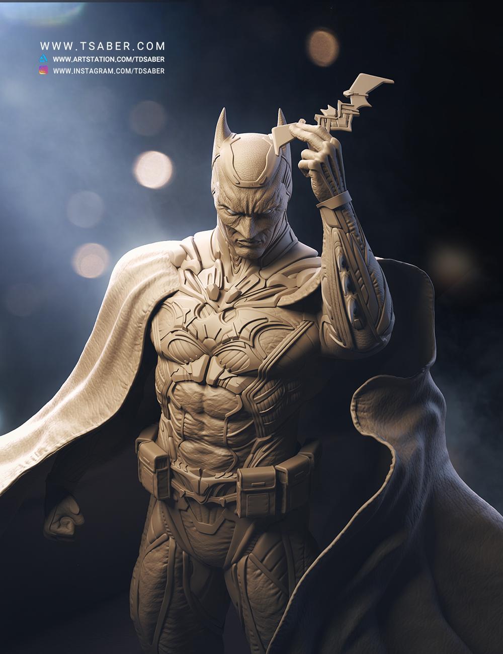 Batman Statue - Zbrush character sculpture - DC Comics Collectible - Tsaber