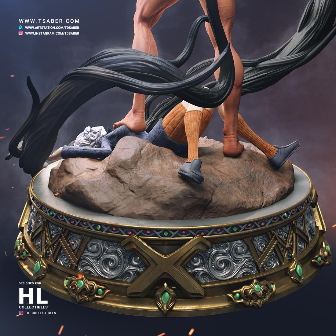 Hunter X Hunter Statue Collectibles - Anime Gov VS Pitou - Tsaber