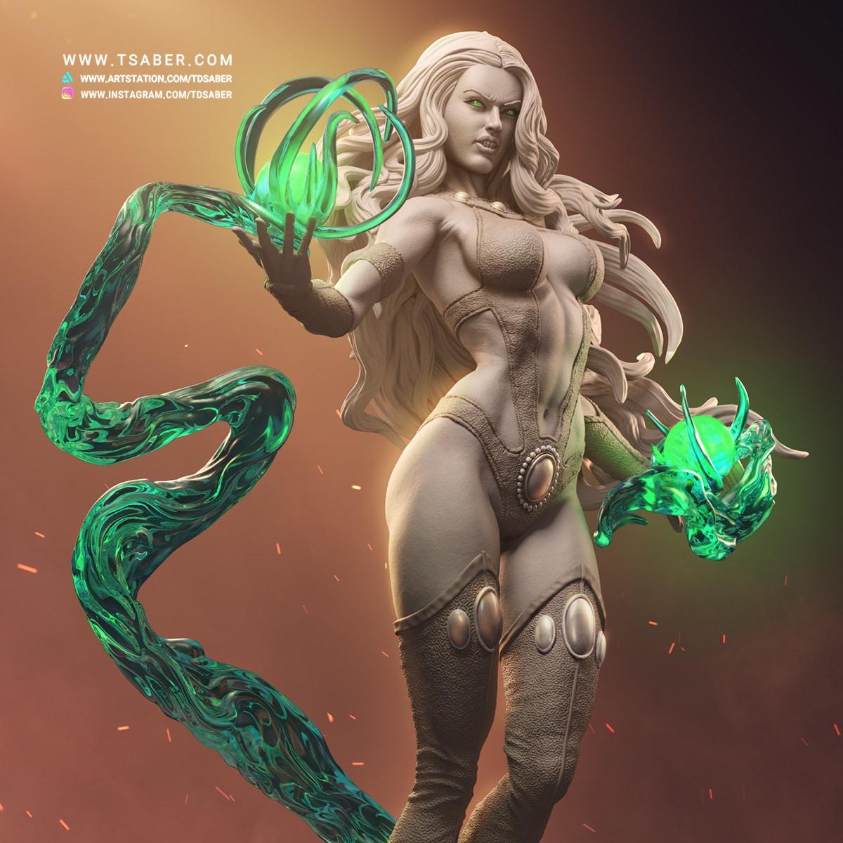 Starfire Zbrush Statue - DC Comics Teen Titans - Tsaber