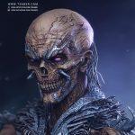 3D Undead Mage- Zbrush fantasy statue Sculpture - Tsaber