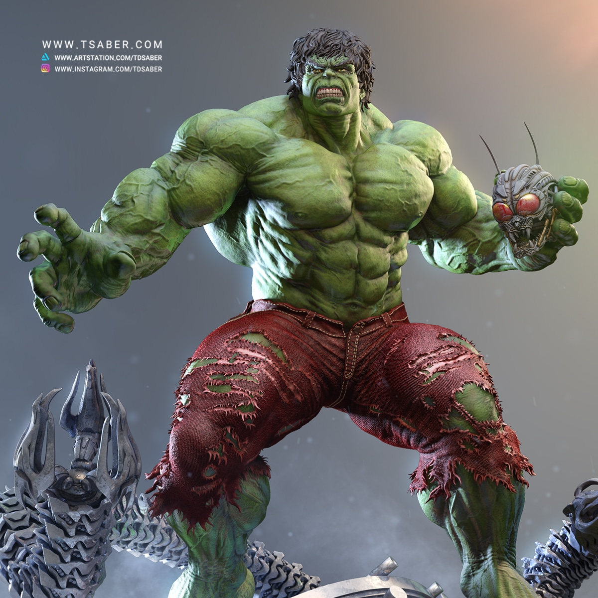 Hulk Statue - Marvel Comics Collectibles - Tsaber